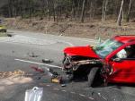 Vážná dopravní nehoda uzavřela sjezd z křižovatky Rádelský mlýn