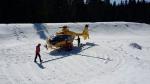 Vrtulník Letecké záchranné služby zasahoval u protržené přehrady