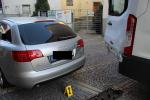 Nehoda dvou aut v jablonecké ulici Jiráskova