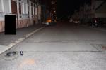 Místo nehody v jablonecké ulici Mánesova