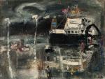 Josef Jíra – Poslední trajekt, olej na plátně; soukromá sbírka 2001