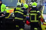 Taktické cvičení, jehož tématem byl nácvik koordinace složek IZS u požáru eskortního autobusu s vězni