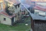 Požár rodinného domu ve Smržovce, ulici Luční