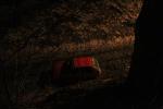Vyproštění auta z kolejiště na Smržovce