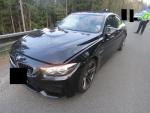 Ukradené luxusní BMW, ve kterém zloděj ujížděl