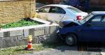 Nehoda dvou aut v Jablonci nad Nisou na křižovatce ulic Jarní a Růžová
