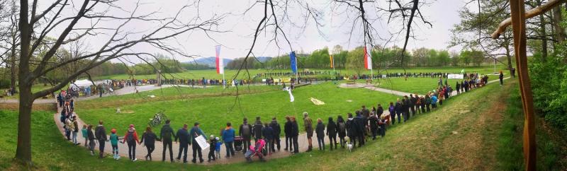 Mezinárodní protest na česko-polsko-německém Trojzemí<br />Autor: Archiv Greenpeace/ Petr Zewlakk Vrabec