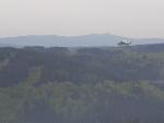 Požár lesa na Tanvaldském Špičáku