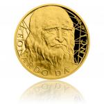 Mince s portrétem Leonarda da Vinci