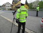 Policejní kontroly motocyklistů u Železného Brodu