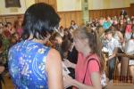 Předávání vysvědčení studentům devátých tří tanvaldské sportovky