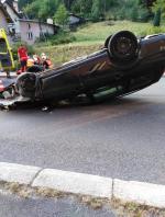 Nehoda osobního auta v Desné