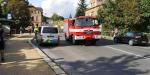 Nehoda dvou aut v Jablonci nad Nisou - Mšeně v ulici Palackého