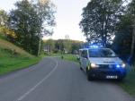 Nehoda motorkáře v Janově nad Nisou