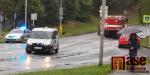 V Jablonci se srazil hasičský vůz s osobákem