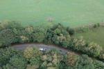 Nehoda na silnici u Dalešic z dronu