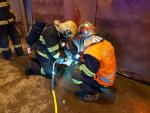 Zásah hasičů u požáru uskladněného odpadu v areálu společnosti Termizo Liberec