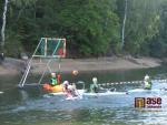 Na jablonecké přehradě se hrálo kanoepolo