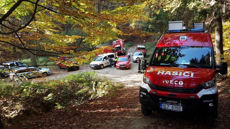 Pátrání po pohřešovaném starším cyklistovi v jizerskohorských lesích