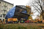 Stavba zasklené přístavby jabloneckého muzea