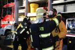 Zásah hasičů v Hamru na Jezeře, kde v jedné firmě došlo k úniku nebezpečných látek
