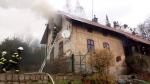 Požár rodinného domu v Držkově