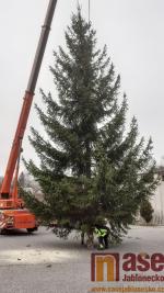 Tanvaldský vánoční strom doputoval na místo určení