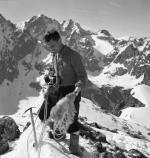 Vilém Heckel při zimním přechodu Vysokých Tater 1955
