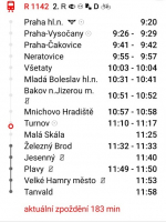 Zpožděný jízdní řád