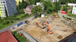 Fotografie z průběhu výstavby pavilonu intenzivní medicíny