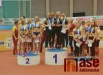Zlatá rekordní štafeta na stupních vítězů
