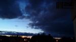 Západ slunce ve Vrkoslavicích u Jablonce v neděli 1. března