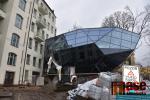 Průběh přístavby jabloneckého muzea na začátku února
