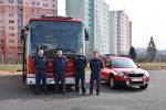 Posádka evakuačního autobusu z Jablonce nad Nisou