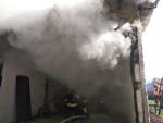 Požár garáží v Liberci