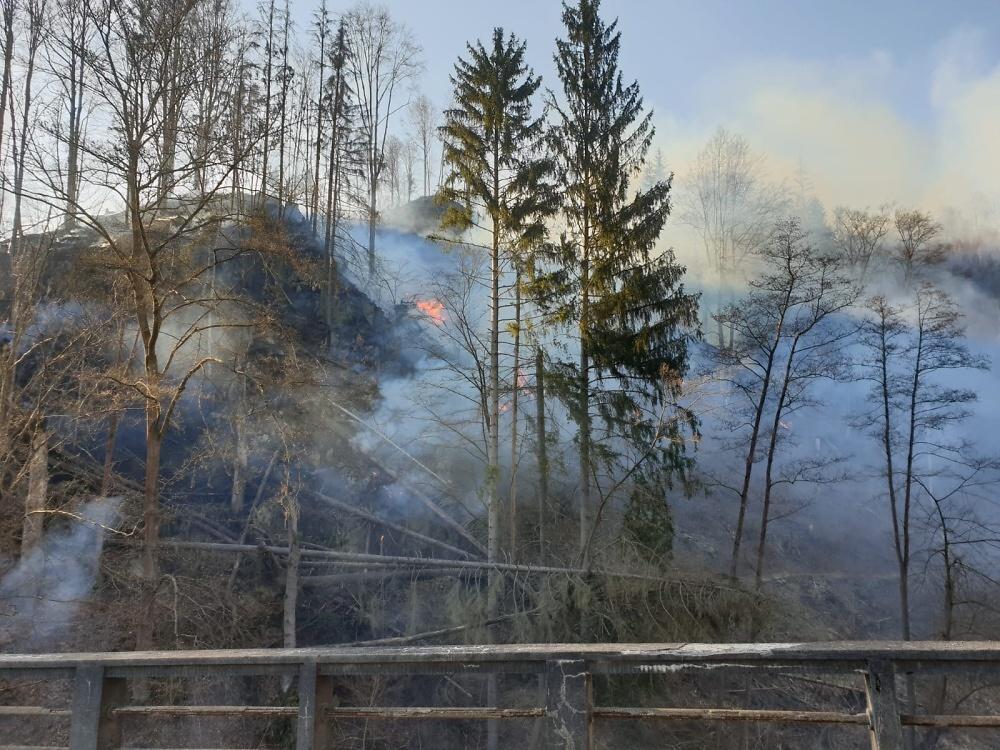Požár lesa Horská Kamenice<br />Autor: HZS Libereckého kraje