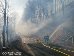 Požár lesa Horská Kamenice