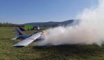 Požár malého letadla na libereckém letišti