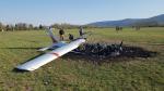 Spadlé letadlo na libereckém letišti