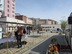 Otevřené trhy u autobusového nádraží v Jablonci