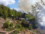 Požár lesa u Malé Skály