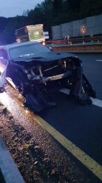 Auto, které do Volkswagenu zezadu narazilo