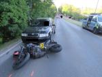 Nehoda řidiče motocyklu Yamaha v ulici U Přehrady v Jablonci