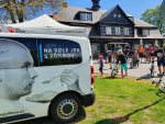 Jubilejní 10. ročník projektu Na kole jen s přilbou odstartoval u horské chaty Bedřichov - Nová Louka