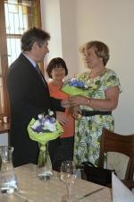 Slavnostní oběd jabloneckého primátora s trojicí končících učitelek