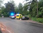 Nehoda osobního automobilu s dodávkou v Dolní Libchavě