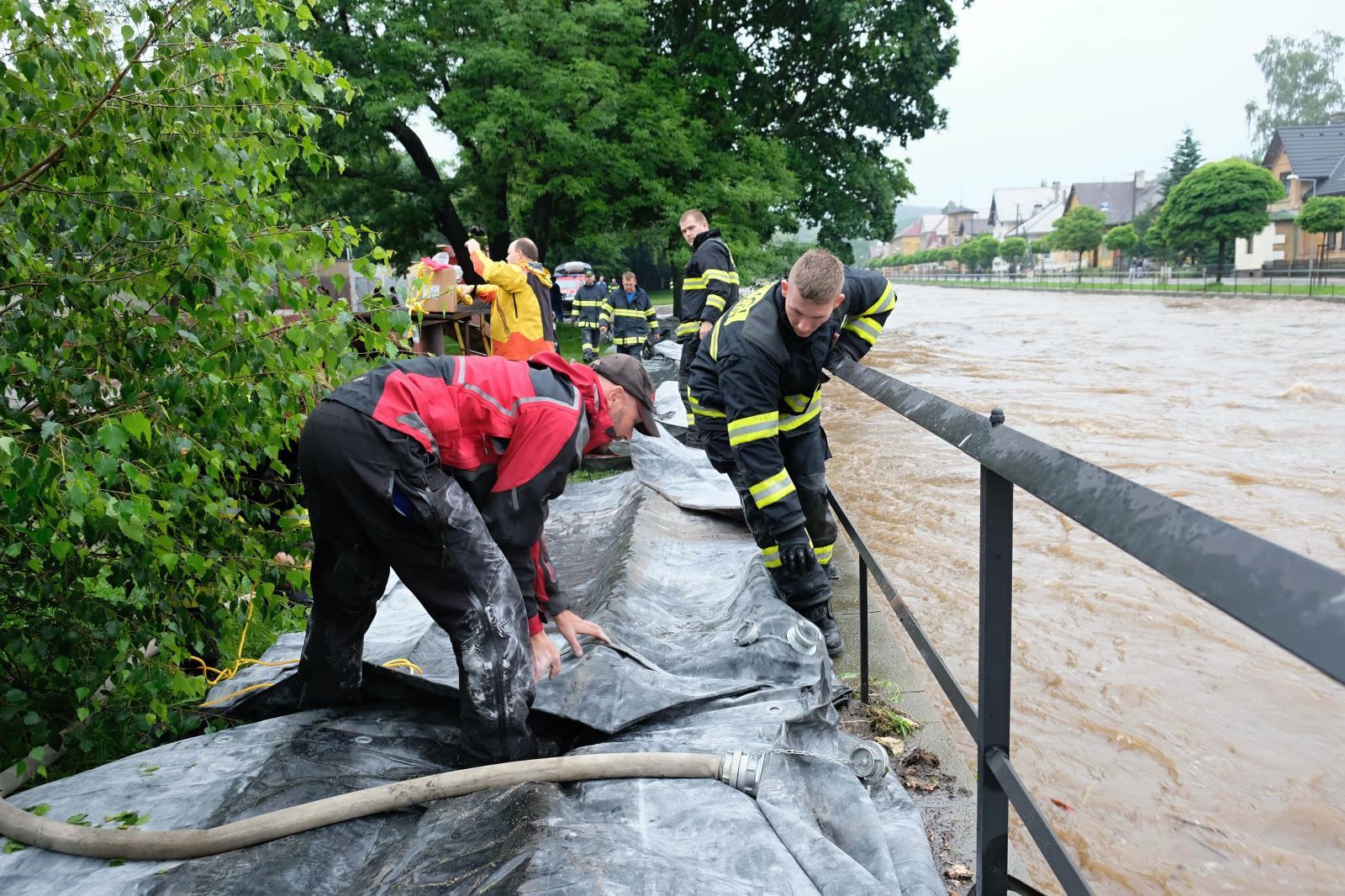Záplavy na Frýdlantsku 20. a 21. června 2020<br />Autor: HZS Libereckého kraje