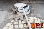 Přejeté značky v ulici 5. května v Jablonci nad Nisou