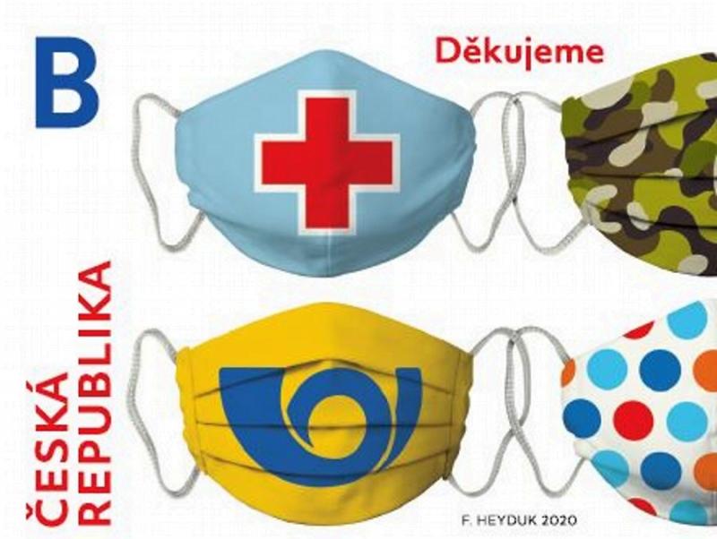 Známky s poděkováním všem záchranářům, hasičům, armádě, policii i pošťákům<br />Autor: Archiv MPO