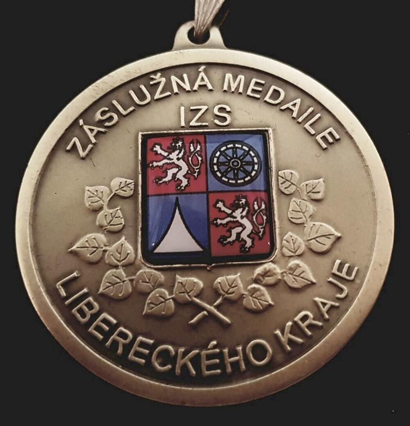 Záslužná medaile IZS Libereckého kraje II. stupně<br />Autor: Archiv KÚ Libereckého kraje